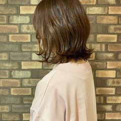 透明感 スロウ 外ハネ イルミナカラー ヘアスタイルや髪型の写真・画像