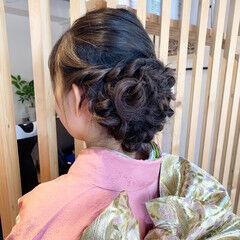 エレガント イルミナカラー ロング 和装ヘア ヘアスタイルや髪型の写真・画像
