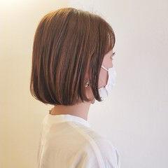 モテボブ 切りっぱなしボブ ボブヘアー ミニボブ ヘアスタイルや髪型の写真・画像