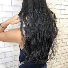 透け感 グレージュ 大人ハイライト 暗髪女子 ヘアスタイルや髪型の写真・画像