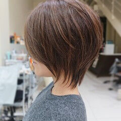 ショート ショートボブ ショートヘア ゆるウェーブ ヘアスタイルや髪型の写真・画像