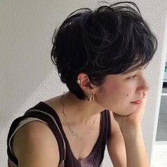 白髪染め マッシュショート ショートパーマ ショート ヘアスタイルや髪型の写真・画像