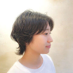 外ハネボブ ウルフカット ニュアンスパーマ モード ヘアスタイルや髪型の写真・画像