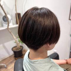 チョコレート ハンサムショート 刈り上げ ショート ヘアスタイルや髪型の写真・画像