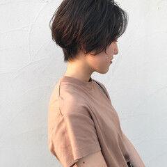 パーマ 毛先パーマ ショートボブ ショート ヘアスタイルや髪型の写真・画像