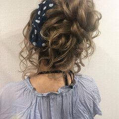 ナチュラル デート 花火大会 ロング ヘアスタイルや髪型の写真・画像