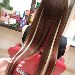 ロング 夏 ストリート ホワイトハイライト ヘアスタイルや髪型の写真・画像