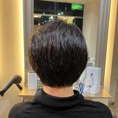 モード ハンサムショート オシャレ 美シルエット ヘアスタイルや髪型の写真・画像