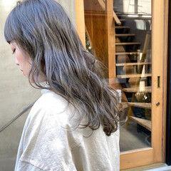 透明感 ナチュラル お洒落 くすみベージュ ヘアスタイルや髪型の写真・画像