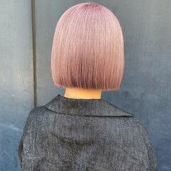 ブロンドカラー ハイトーン ナチュラル ミニボブ ヘアスタイルや髪型の写真・画像