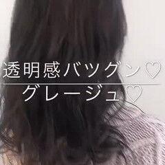 ナチュラル 大人かわいい 渋谷系 透明感 ヘアスタイルや髪型の写真・画像