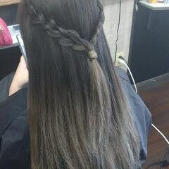 ガーリー ブルーグラデーション ミルクティーベージュ ロング ヘアスタイルや髪型の写真・画像