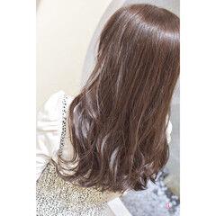 ロング ナチュラルブラウンカラー 韓国ヘア ナチュラル ヘアスタイルや髪型の写真・画像
