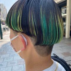 刈り上げ女子 ブリーチカラー ナチュラル ブリーチ ヘアスタイルや髪型の写真・画像