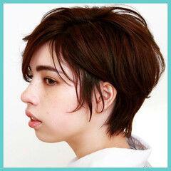 ニュアンス ショートボブ ショート エレガント ヘアスタイルや髪型の写真・画像