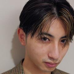 メンズヘア メンズカラー メンズカット 極細ハイライト ヘアスタイルや髪型の写真・画像