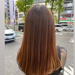 ナチュラル ロング 髪質改善トリートメント