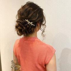 アップ アップスタイル ヘアアレンジ フェミニン ヘアスタイルや髪型の写真・画像