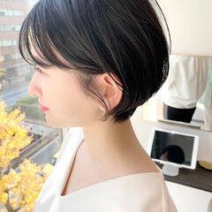 ベリーショート オフィス ナチュラル ショート ヘアスタイルや髪型の写真・画像