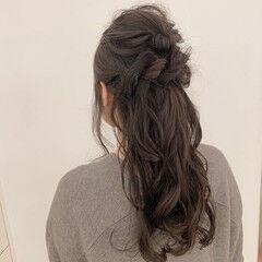 ロング ヘアアレンジ ゆるナチュラル 大人可愛い ヘアスタイルや髪型の写真・画像