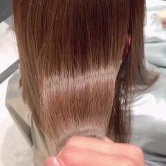 ツヤ髪 モテ髪 髪質改善トリートメント カラートリートメント ヘアスタイルや髪型の写真・画像