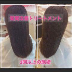 セミロング ナチュラル 髪質改善トリートメント 大人ロング ヘアスタイルや髪型の写真・画像