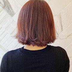 ピンク 20代 アンニュイほつれヘア 髪質改善カラー ヘアスタイルや髪型の写真・画像