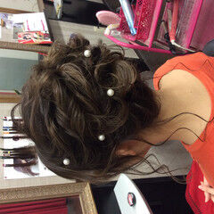 成人式ヘアメイク着付け ヘアアレンジ エレガント 結婚式 ヘアスタイルや髪型の写真・画像