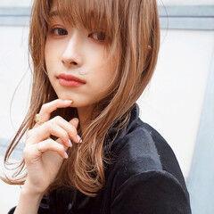 モテ髪 オレンジブラウン ナチュラル デート ヘアスタイルや髪型の写真・画像