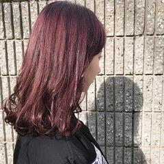 透明感カラー ピンクバイオレット フェミニン ブリーチなし ヘアスタイルや髪型の写真・画像