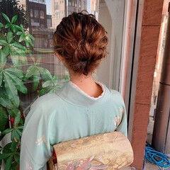 ヘアアレンジ ナチュラル ミディアム ふわふわヘアアレンジ ヘアスタイルや髪型の写真・画像