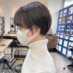 マッシュヘア マッシュショート ショート ショートボブ ヘアスタイルや髪型の写真・画像
