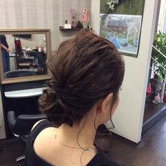 セミロング 簡単ヘアアレンジ 結婚式 デート ヘアスタイルや髪型の写真・画像