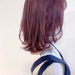 ラベンダー ナチュラル ピンク ベリーピンク ヘアスタイルや髪型の写真・画像