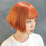 オレンジ オレンジカラー 염색 ブリーチ必須
