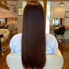 ナチュラル ロング サラサラ ヘッドスパ ヘアスタイルや髪型の写真・画像