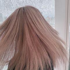 ハイトーン ストリート ハイトーンカラー セミロング ヘアスタイルや髪型の写真・画像