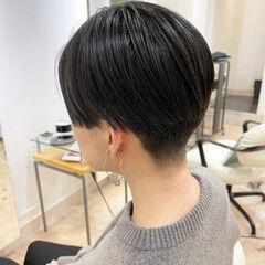 モード ツーブロック ショートヘア マッシュ ヘアスタイルや髪型の写真・画像