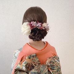 エレガント 振袖ヘア 訪問着 結婚式 ヘアスタイルや髪型の写真・画像