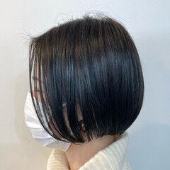 ボブ 透明感カラー モード ブルージュ ヘアスタイルや髪型の写真・画像