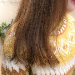 ホワイトハイライト ハイライト コントラストハイライト セミロング ヘアスタイルや髪型の写真・画像