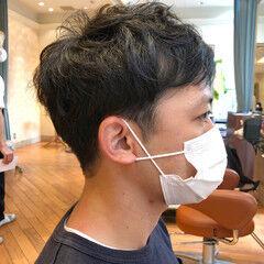 メンズ 刈り上げ メンズヘア 黒髪 ヘアスタイルや髪型の写真・画像