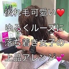 ヘアアレンジ お団子 ロング フェミニン ヘアスタイルや髪型の写真・画像