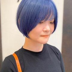 ショート ショートヘア 簡単スタイリング 大人かわいい ヘアスタイルや髪型の写真・画像