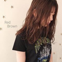 大人女子 赤茶 大人可愛い 大人かわいい ヘアスタイルや髪型の写真・画像