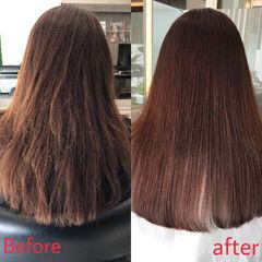 最新トリートメント ナチュラル ロング 髪質改善トリートメント ヘアスタイルや髪型の写真・画像