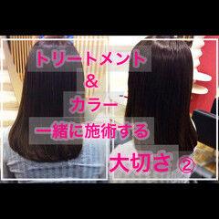 大人ロング 髪質改善 ナチュラル 髪質改善トリートメント ヘアスタイルや髪型の写真・画像