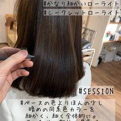 エレガント ブラウン ショコラブラウン ローライト ヘアスタイルや髪型の写真・画像