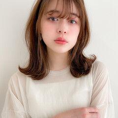 鎖骨ミディアム 大人可愛い ミディアム モテ髪 ヘアスタイルや髪型の写真・画像