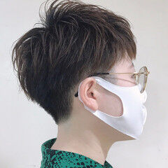 ショート 刈り上げ女子 レイヤー マッシュショート ヘアスタイルや髪型の写真・画像